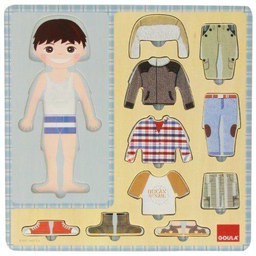 Goula puzzle Dress up Boy junior Holz 10 Teile