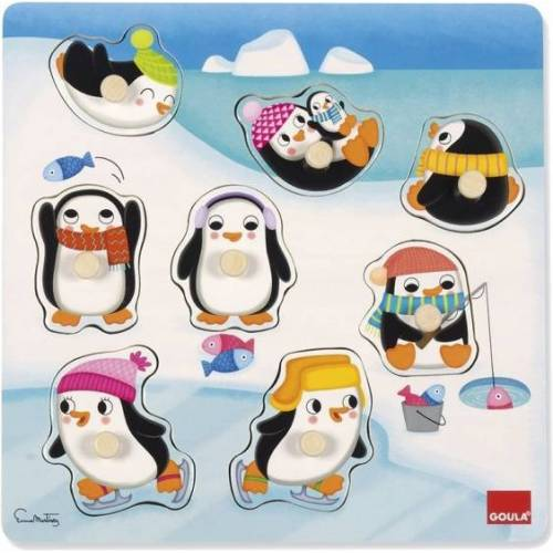 Goula puzzle Pinguïns junior hour 8 Teile