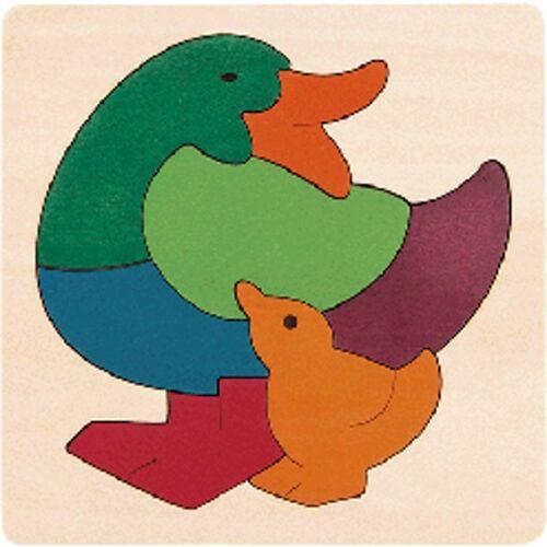 Hape puzzle Rainbow Duck junior Holz 7 Teile