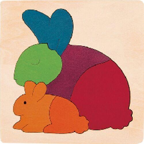 Hape puzzle Rainbow Rabbit junior Holz 6 Teile