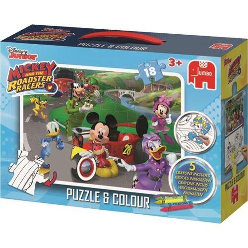 Jumbo puzzle/Malvorlage Disney Mickey Mouse 18 Teile