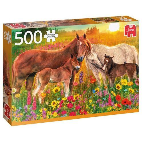Jumbo puzzle Paarden in de Wei 500 Teile