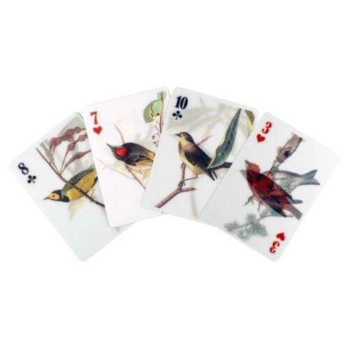 Kikkerland 3D Spielkarten Vögel 62 x 88 mm Papier 54 teilig