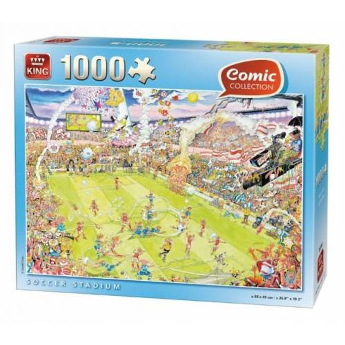 King 1000 Stück Puzzle Fußball Stadion