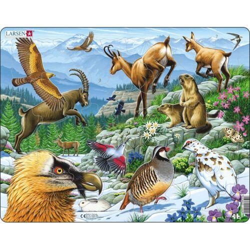 Larsen puzzle Maxi Alpen junior Karton 55 Teile