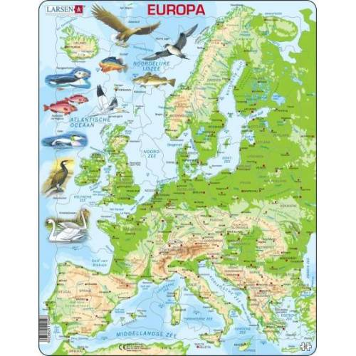 Larsen puzzle Maxi Europa junior karton 87 teile