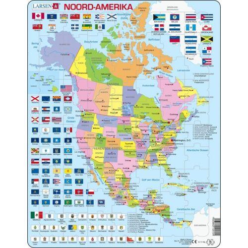 Larsen puzzle Maxi Noord Amerika junior Karton 70 Teile