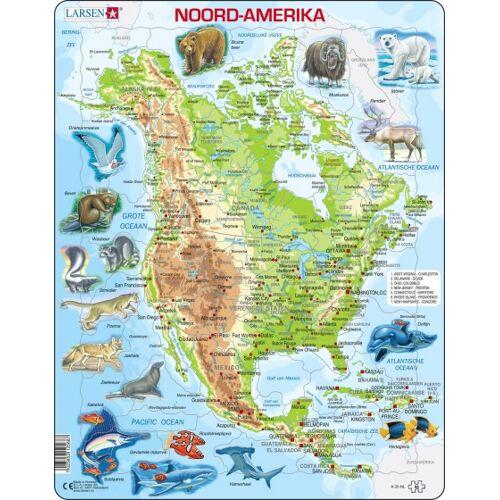 Larsen puzzle Maxi Nordamerika junior Karton 64 Teile