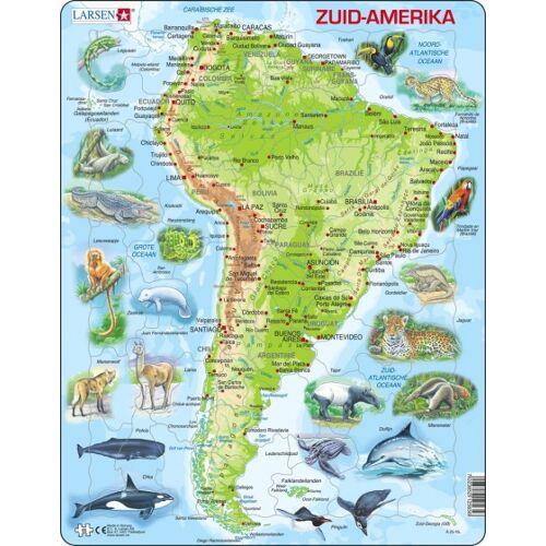 Larsen puzzle Maxi Südamerika junior Karton 65 Teile