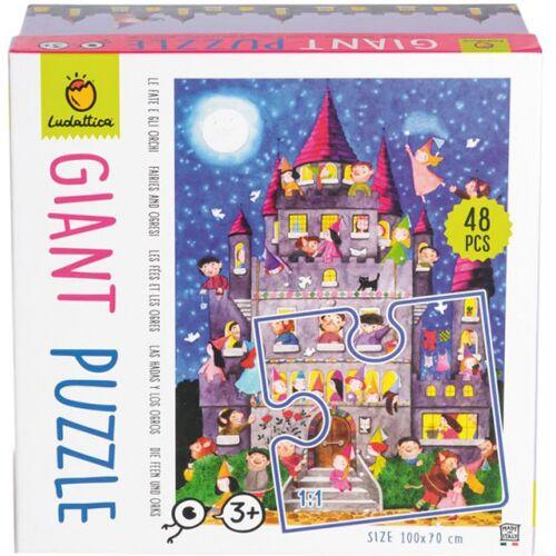 Ludattica puzzlespiel Giant Puzzle Feen & Orks 48 Teile
