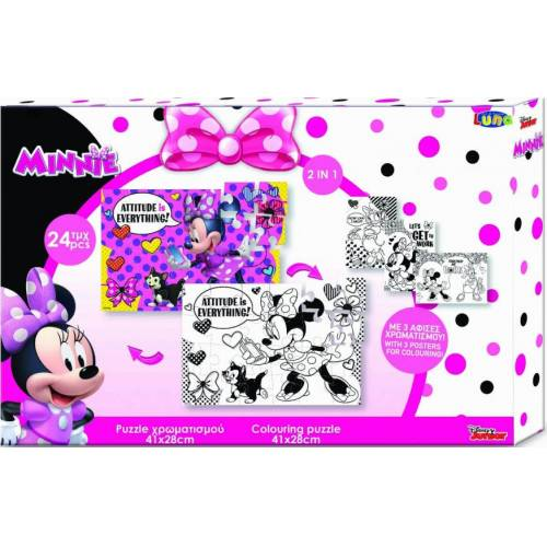 Luna minnie Mouse junior Karton Puzzle 24 Teile