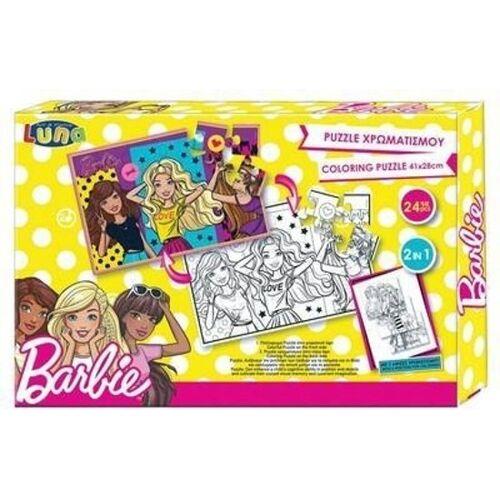 Mattel puzzle Barbie mädchen karton 24 stück