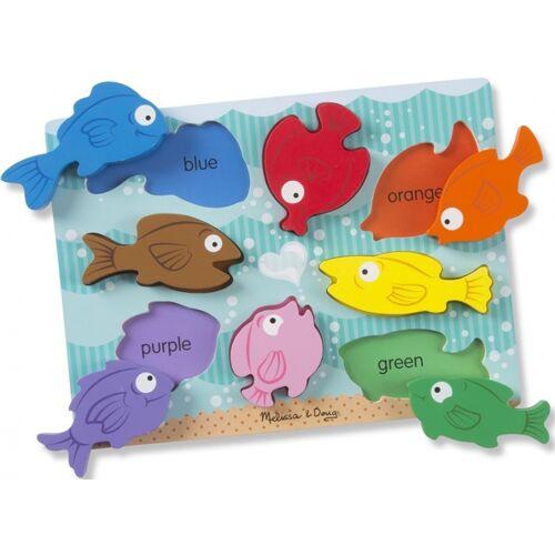 Melissa & Doug puzzle Chunky Colourful Fish junior Holz 8 Teile