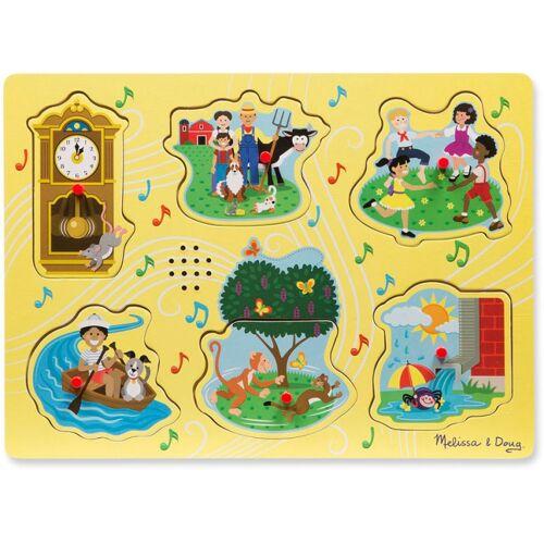 Melissa & Doug puzzle Meezingliedjes Holz Junior 6 Teile