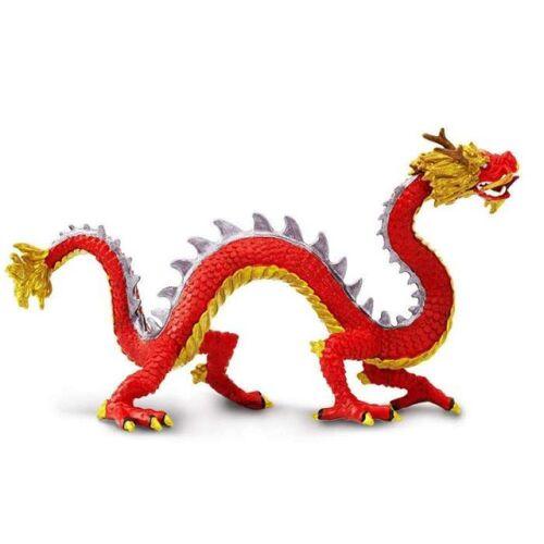 Safari figur Chinesischer Drache junior 20,5 x 9 cm rot