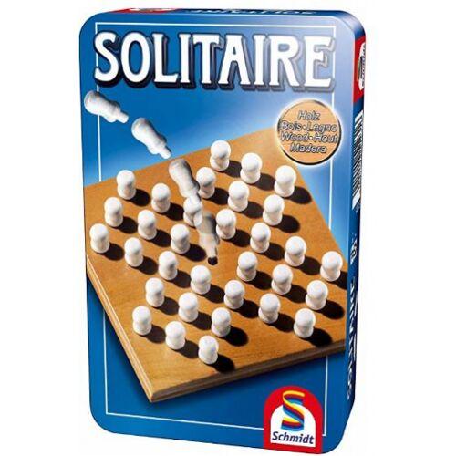 Schmidt brettspiel Solitaire 18,5 x 11,4 cm Holz 35 Stück