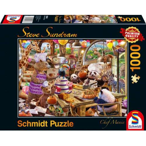 Schmidt Puzzle jigsaw Puzzle Chef Mania Karton 1000 Teile