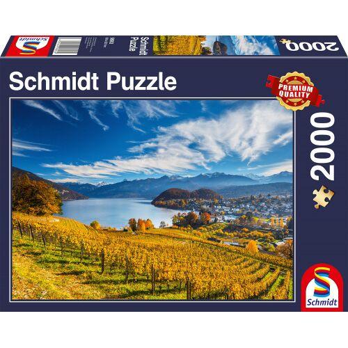 Schmidt Puzzle jigsaw Puzzle Weinberge Karton 2000 Teile