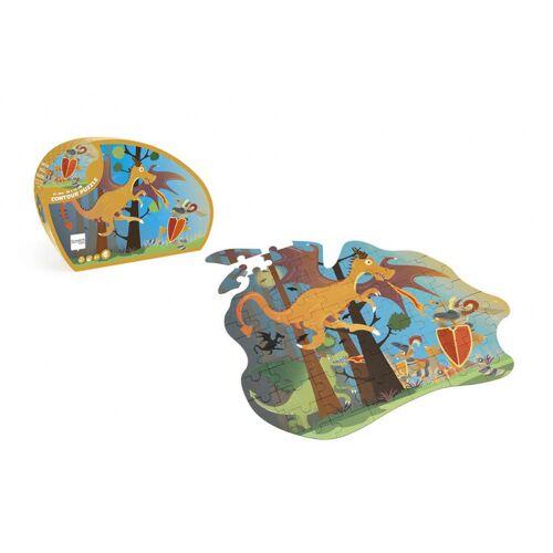 Scratch puzzle Puzzle Drache Junior 56,3 cm Karton braun 61 teilig
