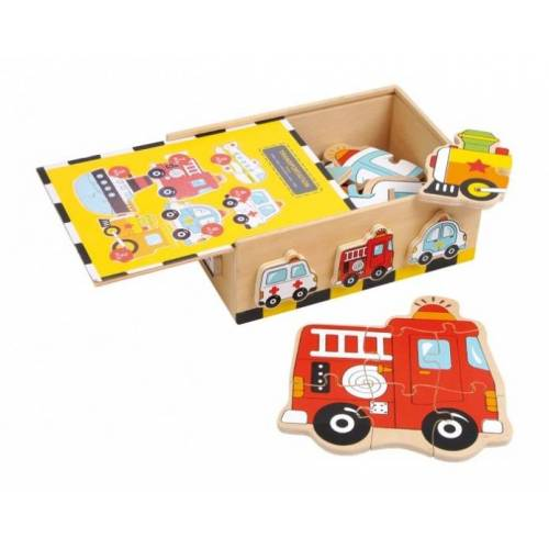 Small Foot Wood Puzzle Box Fahrzeuge 27 Piece