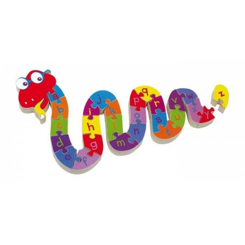 Small Foot Wood Puzzle Snake ABC