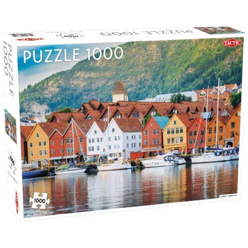Tactic puzzle Hafen in Bergen 67 x 48 cm 1000 Teile
