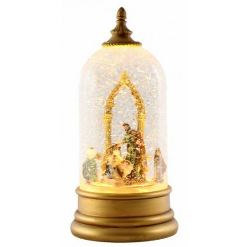 Peha laterne Weihnachten LED 12 x 26 cm Stahl/Glas gold