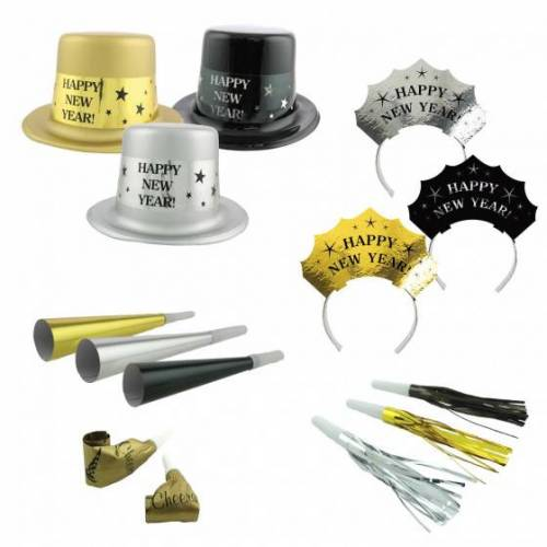 Amscan party Paket Get The Party Started Gold/Silber 50 Stück