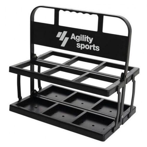 Agility Sports wasserflaschenkiste 35 cm schwarz