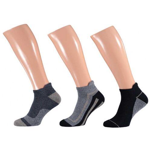 Apollo freizeit Sport Socken blau/grau 3 Paar