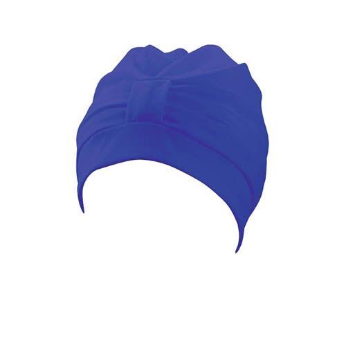 Beco badekappe Damenstoff Klettverschluss blau