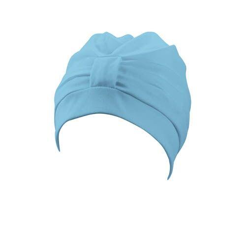 Beco badekappe Damenstoff Klettverschluss hellblau