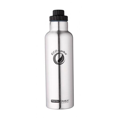 ECOtanka trinkflasche Thermo Tanka800 ml Edelstahl Chrom/Schwarz
