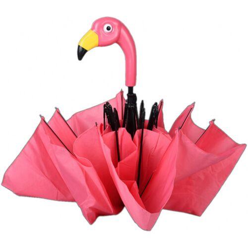 Esschert Design regenschirm Flamingo 96,5 x 50 cm Seide/ABS rosa