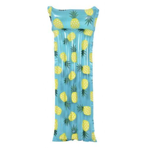Gerimport luftmatratze Ananas 183 x 68 cm PVC blau/gelb
