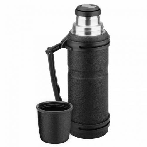 Isosteel thermoskanne aus Edelstahl Stealth 1,2 Liter schwarz