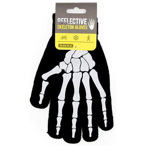 Suck UK handschuhe Skelett Polyester schwarz/weiss Einheitsgrösse