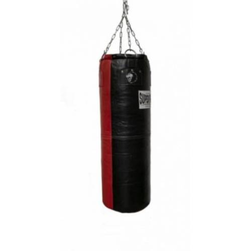 Super Pro boxsack Split 122 x 35 cm Leder 36 kg schwarz/rot
