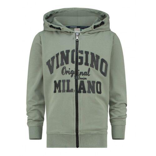 Vingino weste Milano Jungen Baumwolle/Polyester Armee grün Größe 140