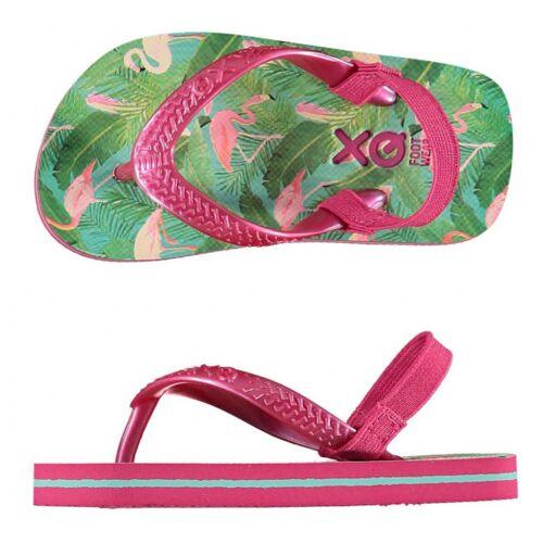 XQ Footwear hausschuhe Flamingo Mädchen rosa/grün Größe 19 20