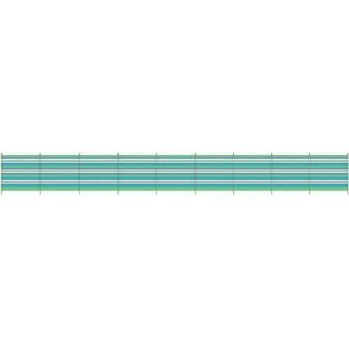 Yello Windschutzscheibe 10 Pole 120 x 610 cm grün / blau