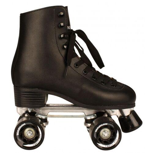 Nijdam Retro Rollschuhe unisex Leder schwarz Größe 37