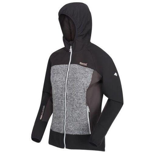 Regatta outdoor Jacke Garn sofshell Damen schwarz grau Größe 38