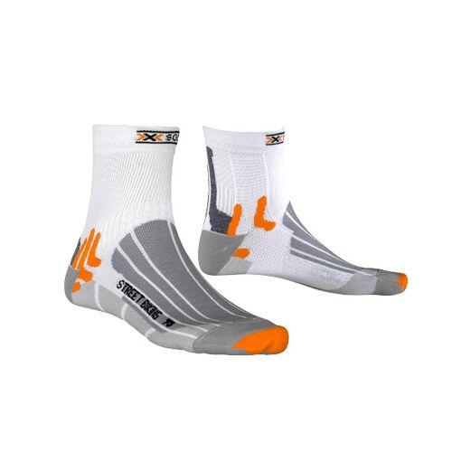 X-Socks X Socks fahrradsocken Street BikingNylon/PP weiß/grau