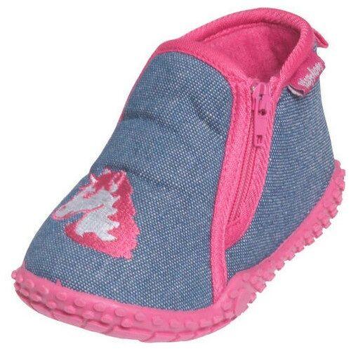 Playshoes pantoffeln Einhorn Mädchen blau/rosa Größe 26/27