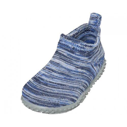 Playshoes pantoffeln gestrickt Junior blau Größe 20/21