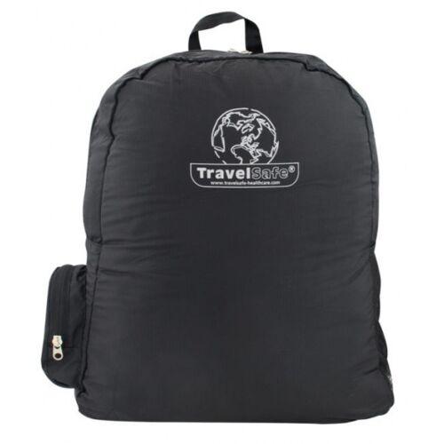 TravelSafe rucksack faltbar 36 x 42 cm Polyester schwarz