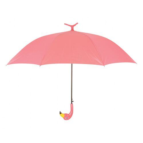 Esschert Design regenschirm Flamingo automatisch 98 cm Seidenrosa