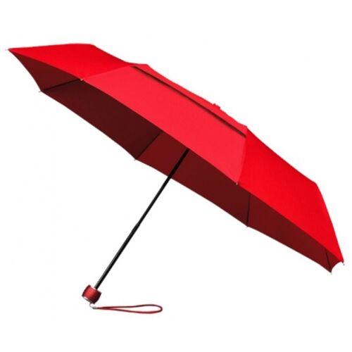 Impliva faltbarer Regenschirm miniMAX® Eco Fiberglas 100 cm rot