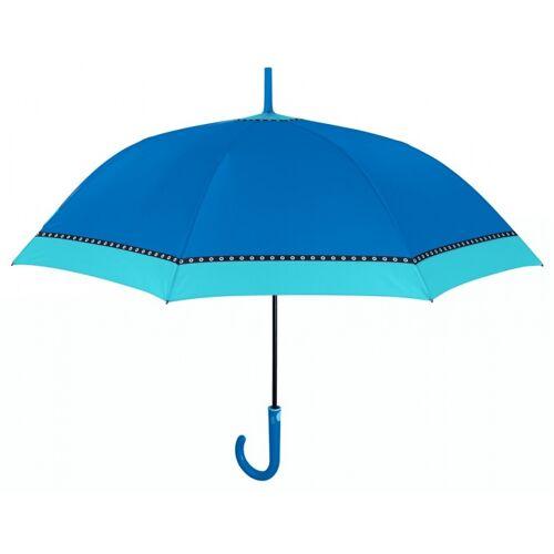 Perletti schirmfarbener Rand automatisch 102 cm blau
